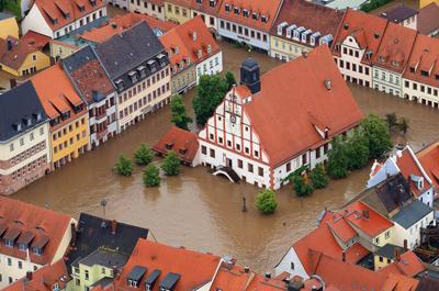 Наводнение в Германии в Европе